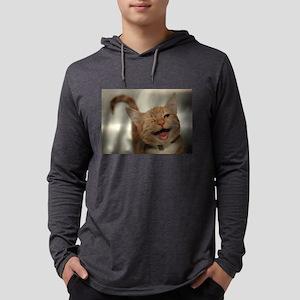 Winking Happy Ginger Cat Long Sleeve T-Shirt