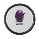 Stay or Stray Large Wall Clock
