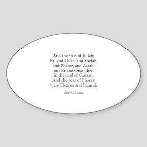 GENESIS 46:12 Oval Sticker
