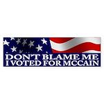 I Voted for McCain Bumper Sticker (10 pk)