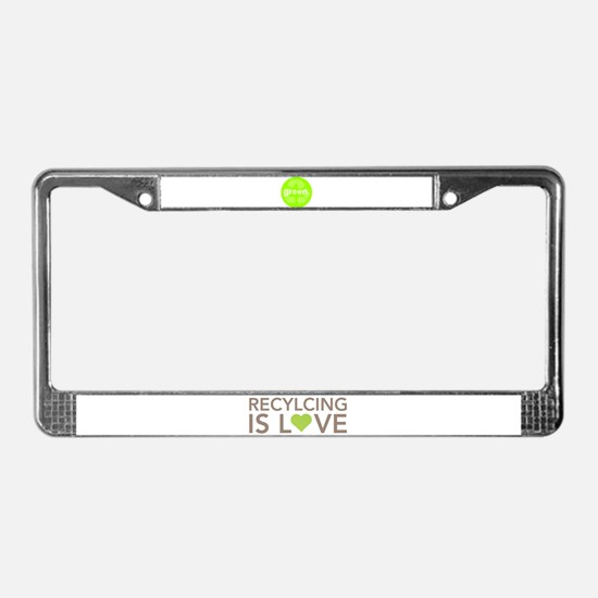 Cool Recycle License Plate Frame