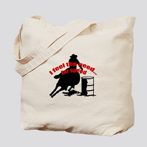 Barrel racing need for speed Tote Bag