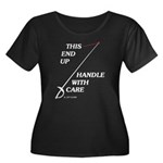 This End Up Women's Plus Size Scoop Neck Dark T-Sh