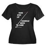 This End Up Women's Plus Size Scoop Neck Dark T-Sh