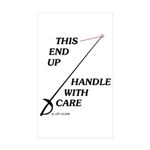 This End Up Rectangle Sticker 10 pk)