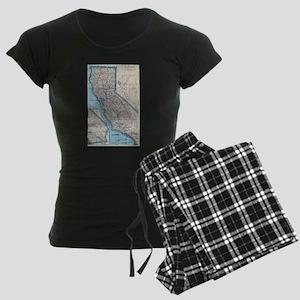 Vintage Map of California (1921) Pajamas