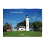 Pt. Aux Barques Lighthouse 5'x7'area Rug
