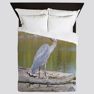 Blue Heron Queen Duvet