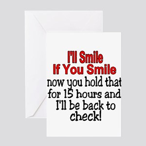 I'll smile if you smile Greeting Card