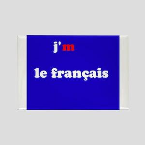 j'm le francais Rectangle Magnet
