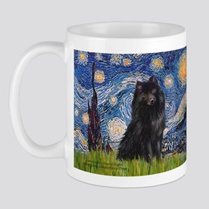 Starry Night Schipperke Mug