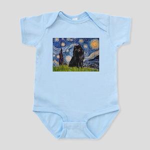 Starry Night Schipperke Infant Bodysuit