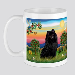 Schipperke in Bright Country Mug