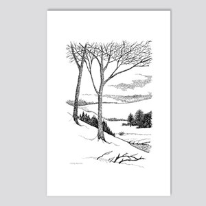 Winter Hillside Postcards (Package of 8)