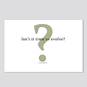 Isn't it time to evolve? Postcards (Package of 8)