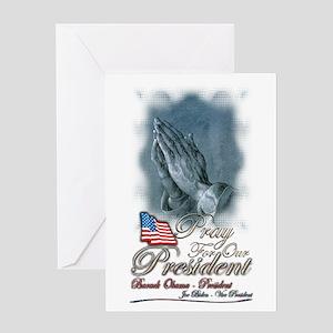 Pray for President Obama - Greeting Card