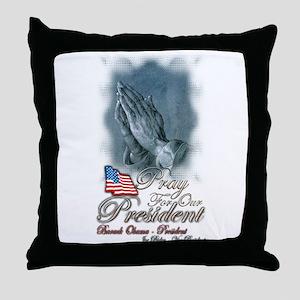 Pray for President Obama - Throw Pillow