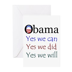 Obama: Yes we will Greeting Cards (Pk of 10)