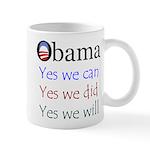 Obama: Yes we will Mug