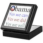 Obama: Yes we will Keepsake Box