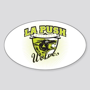 La Push Wolves Emblem (green) Oval Sticker