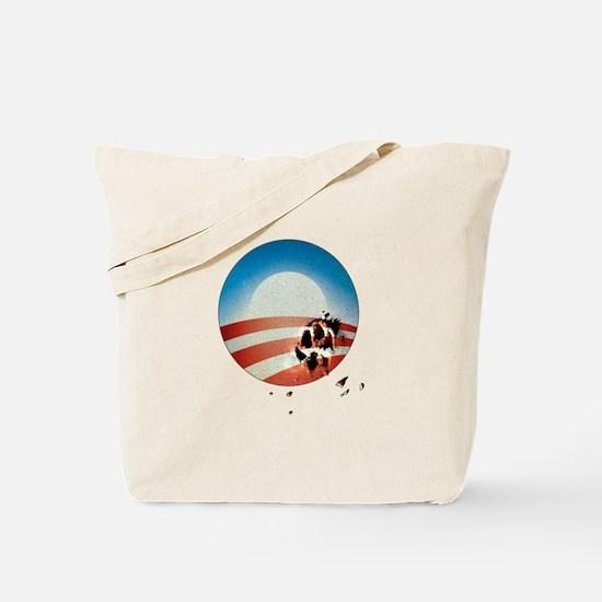 Obama Vote by Dog Paw Tote Bag
