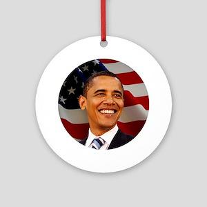 Obama Patriotic Ornament (Round)