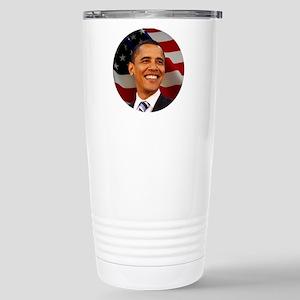 Obama Patriotic Stainless Steel Travel Mug