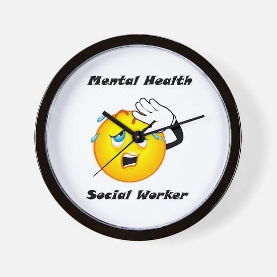 Mental Health Social Worker Wall Clock
