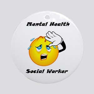 Mental Health Social Worker Ornament (Round)