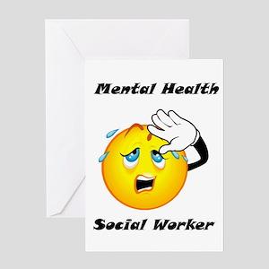 Mental Health Social Worker Greeting Card