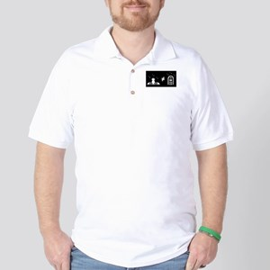 """DJ does not equal jukebox"" Golf Shirt"