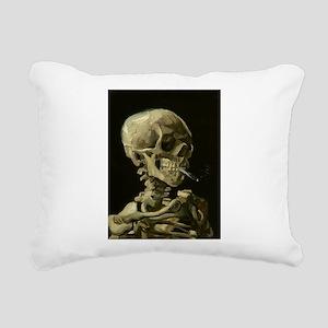 van gogh Skull Rectangular Canvas Pillow