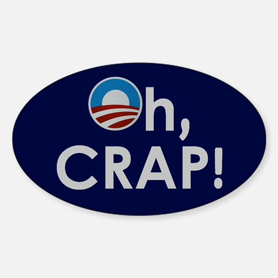 O Crap! Oval Decal