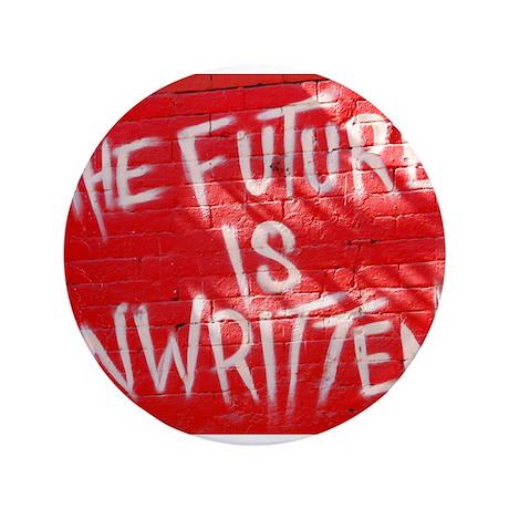"The Future is Unwritten 3.5"" Button"