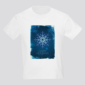 Blue Snowflake Holiday Kids Light T-Shirt