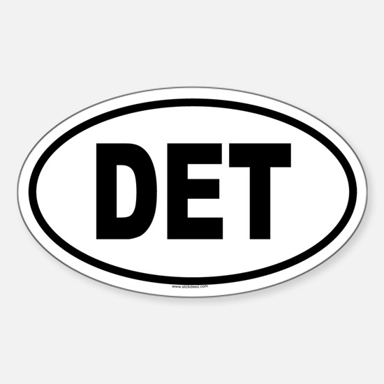 DET Oval Decal