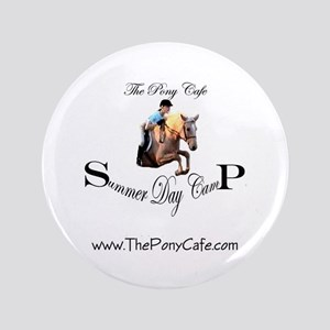 """Pony Cafe Summer Camp 3.5"""" Button"""