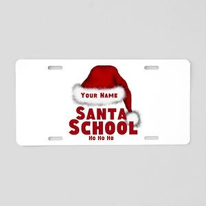 Santa School Aluminum License Plate