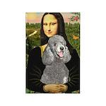 Mona Lia/Std Poodle (silver) Rectangle Magnet (100