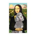 Mona Lia/Std Poodle (silver) Sticker (Rectangle)