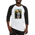 Mona Lia/Std Poodle (silver) Baseball Jersey