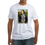 Mona Lia/Std Poodle (silver) Fitted T-Shirt