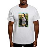 Mona Lia/Std Poodle (silver) Light T-Shirt