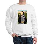 Mona Lia/Std Poodle (silver) Sweatshirt