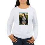 Mona Lia/Std Poodle (silver) Women's Long Sleeve T
