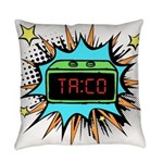 Taco Time - Blue Everyday Pillow