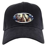 Polar Bear Black Baseball Cap Bear Painting