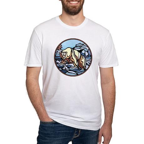 Cool Polar Bear Fitted T-Shirt Wildlife Design