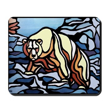 Polar Bear Art Mousepad Wildlife Painting Gifts